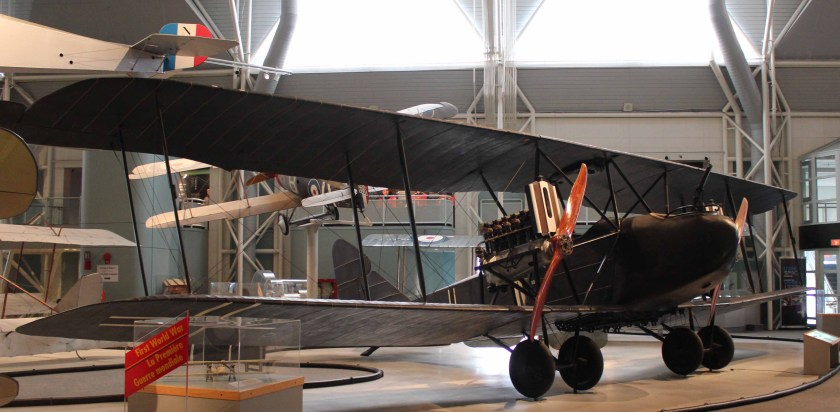 Author's photo. Canada Aviation and Space Museum, Ottawa, AEG GIV bomber no. 574/18.
