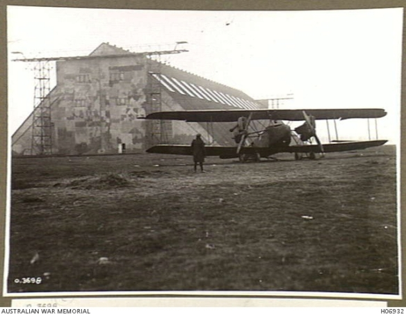 AEG German medium bomber outside of Namur, Belgium Zeppeliln shed, Nov. 1918