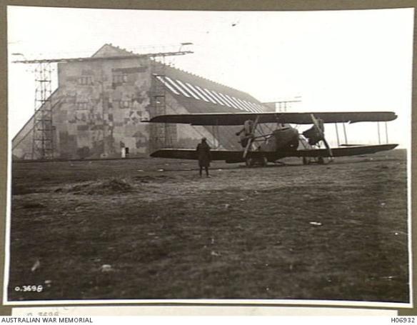 AEG German medium bomber outside of Namur, Belgium Zeppeliln shed, Nov. 1918