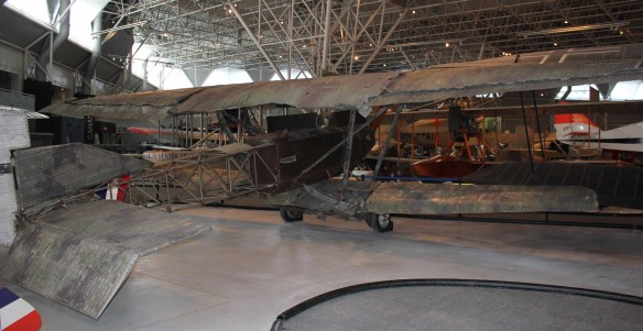 This war trophy bird is back on display. Next to the German AEG GIV bomber, these two make a nice reunion of 1919 War Trophy display planes.