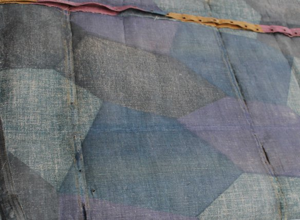 This sample of First World War Night Lozenge Camouflage is from the original fabric of the AEG bomber in the collection of the Canada Air and Space Museum.