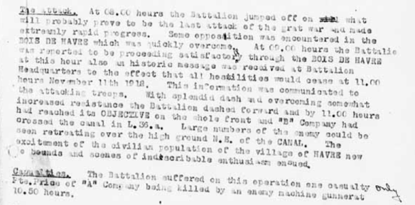 Detail_report on ops 28 CIB NOv 1918
