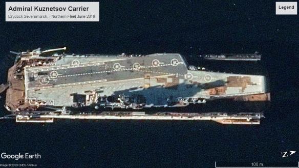 Admiral Kuznetsov carrier 2019 Severomorsk