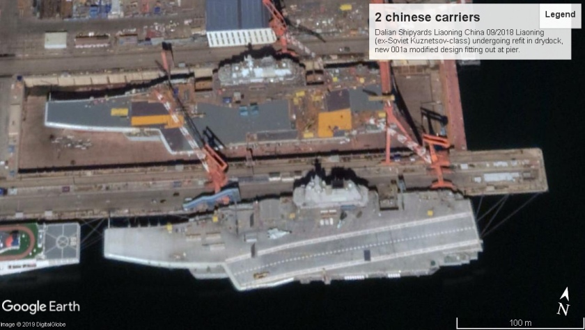 dalian shipyards 2 chinese carriers 2018