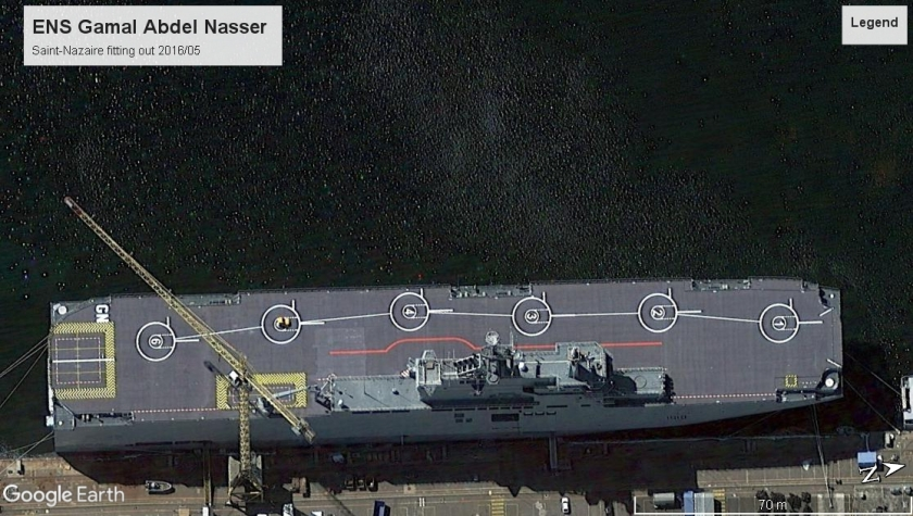 Gamal Abdel Nasser Egyptian AMph Assault ship St. Nazaire 2016