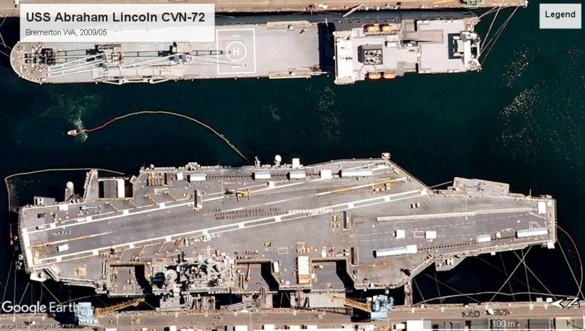 USS Abraham Lincoln CVN-72 Bremerton 2009