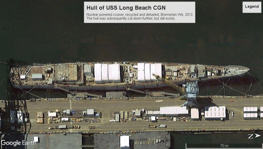 USS Long Beach hull Bremerton 2013