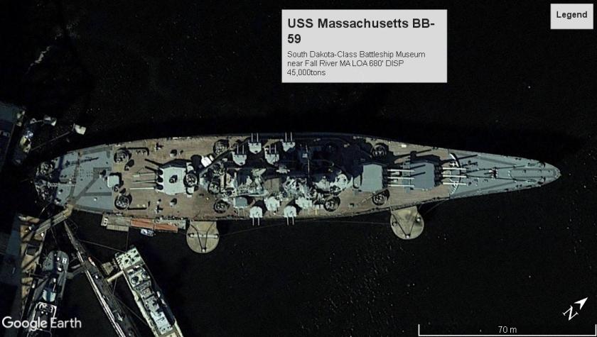 USS Massachusetts BB-59 FallRiverMA