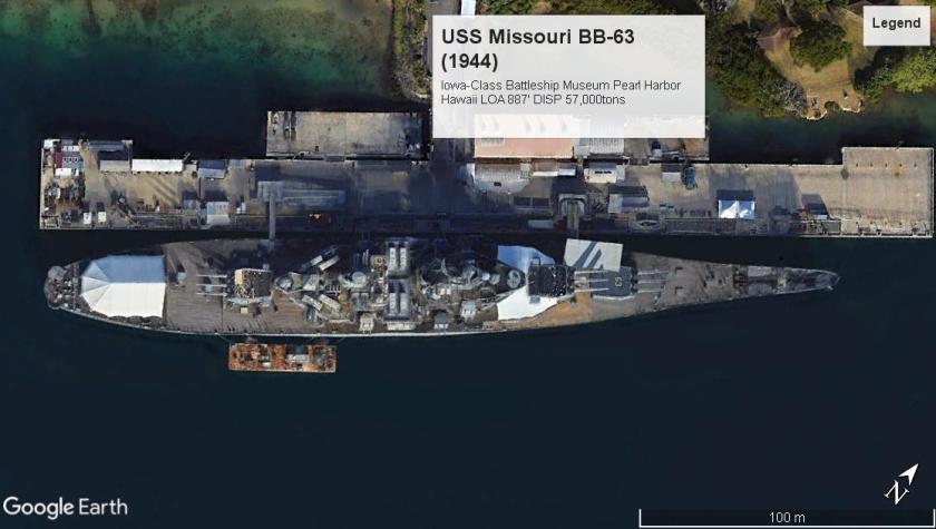 USS Missouri BB-63 PearlHarborHW