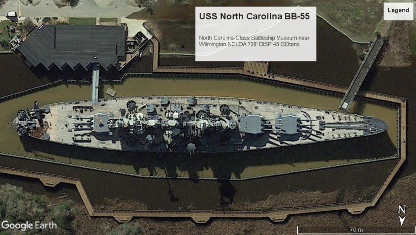 USS North Carolina BB-55 WilmingtonNC