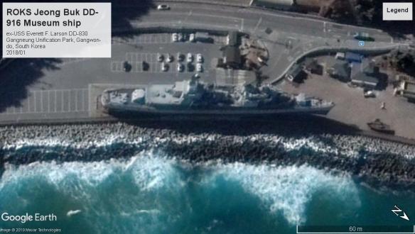 ex-USS Everett F Larson DD830 Gangneung Unification Park South Korea 2018
