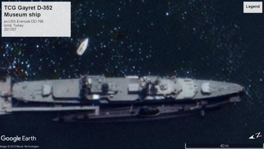 ex-USS Eversole DD-789 TCG Gayret Izmit Turkey 2017