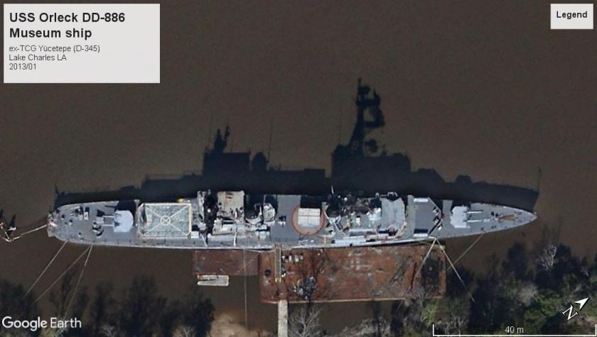 ex-USS Orleck DD-886 TCG Yücetepe Lake Charles LA 2013