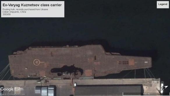 Ex-Varyag (Liaoning) 2003 Dalian shipyards
