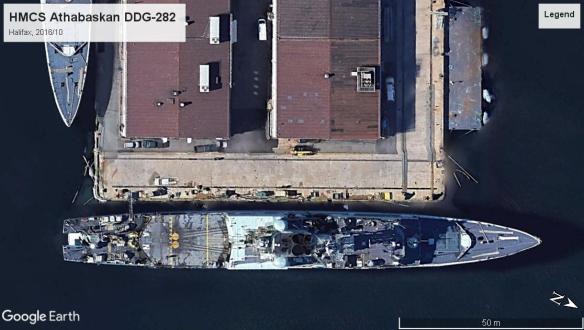 HMCS Athabaskan DDG-282 Halifax 2016