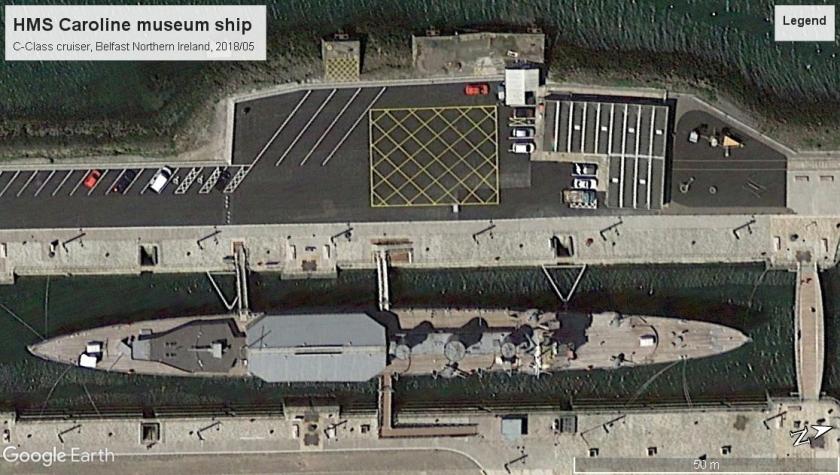 HMS Caroline Museum ship Belfast 2018