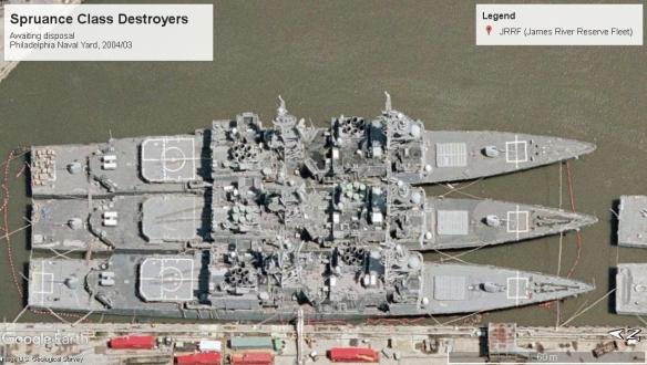 Spruance Class Destroyers disposal Philedelphia 2004.jpg