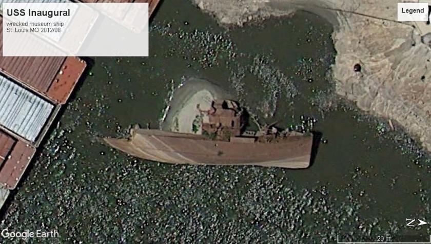 USS Inaugural wreck St Louis MO 2012