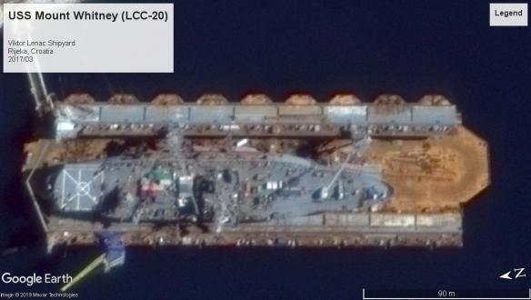 USS Mount Whitney LCC-20 Viktor Lenac Shipyard 2017