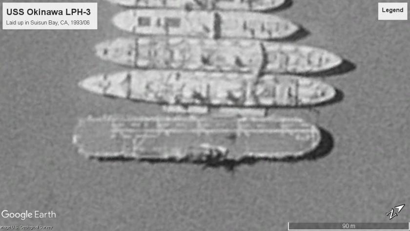 USS Okinawa LPH-3 Suisun Bay 1993