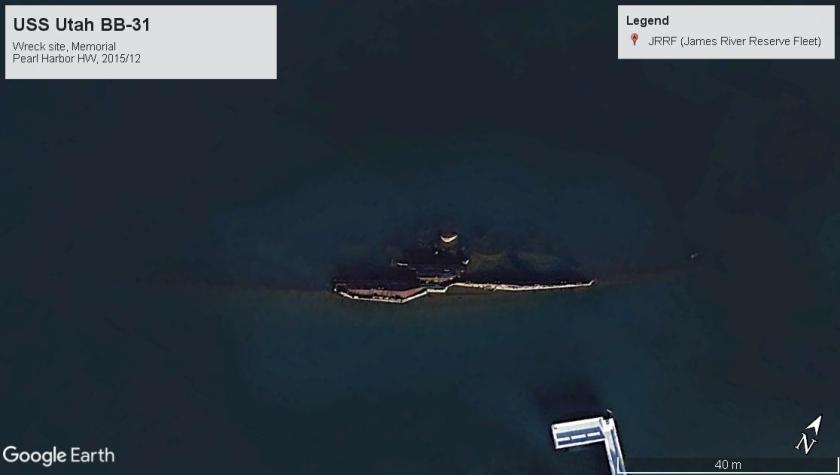 USS Utah wreckmemorial BB-31 Pearl Harbor 2015