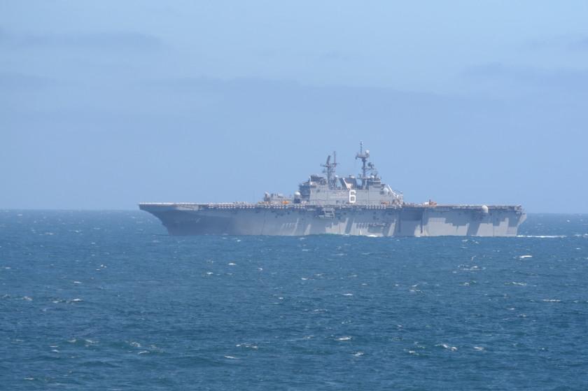 USS Comstock (LSD 45) Conducts Replenishment at Sea