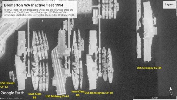 Bremerton WA 1994 inactive fleet