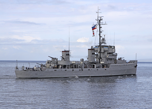 BRP Manuel L. Quezon (70), August 2009, off Bitung and off Manad