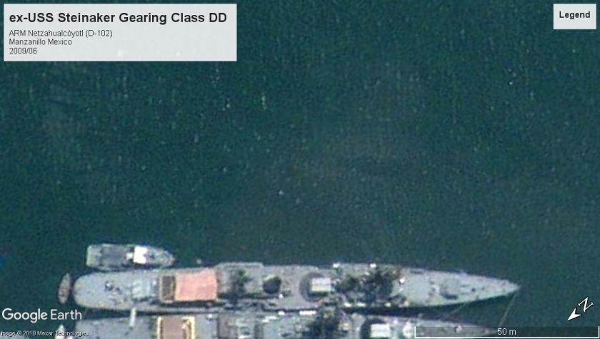 ex-USS Steinaker Gearing class Mexico 2009