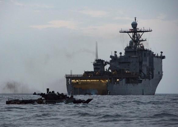 Amphibious Operations Aboard USS Harpers Ferry
