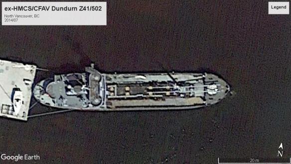 HMCS Dundurn tanker North VAN 2014