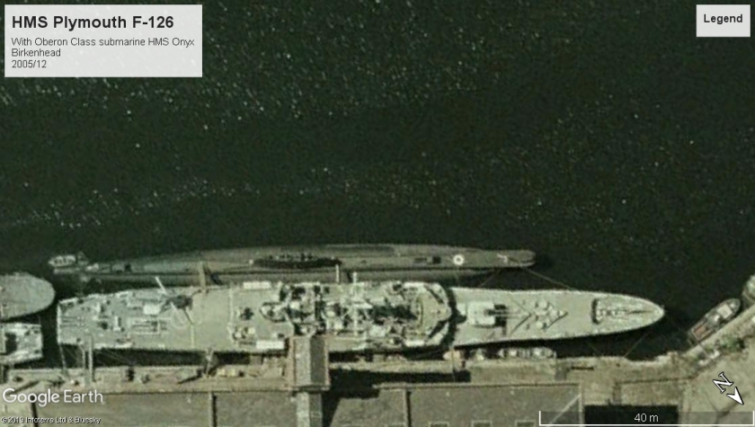 HMS Plymouth Rothesay Class Birkenhead 2005