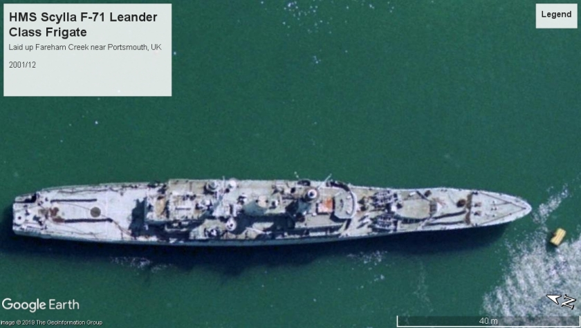HMS Scylla Leander class Fareham 2001