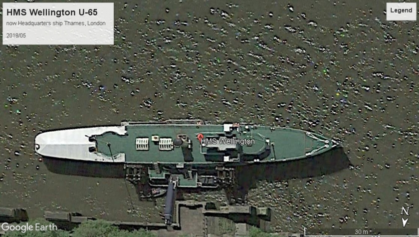 HMS Wellington U65 London 2018.jpg