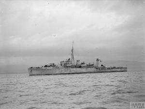 HMS WHIMBREL. THE LATEST SLOOP, 27 JANUARY 1943, AT GREENOCK.