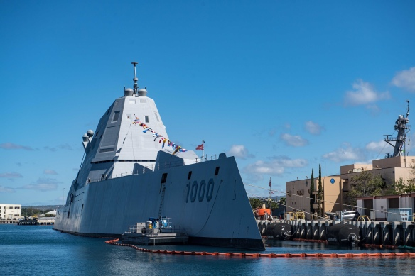 USS Zumwalt in Pearl Harbor