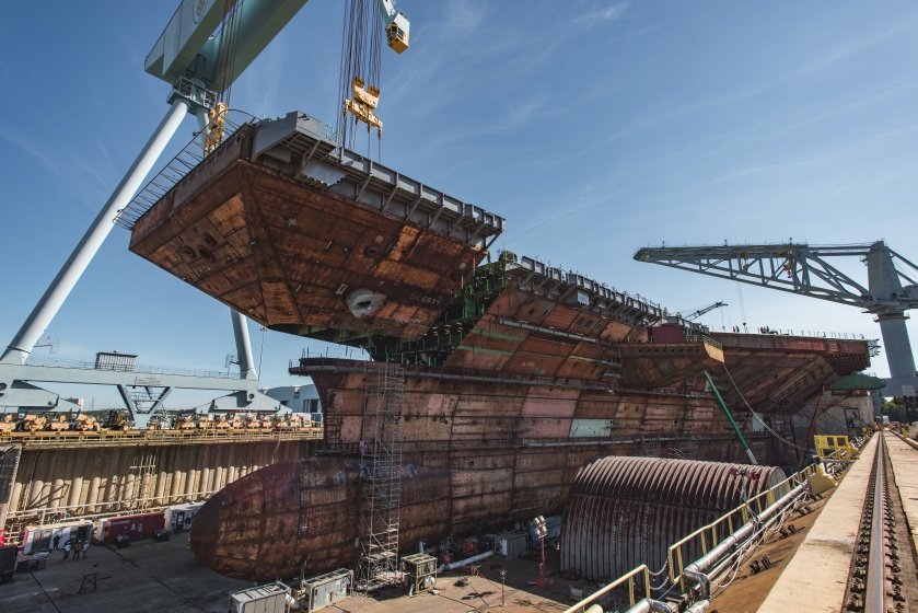 CVN 79 Kennedy Upper Bow Lift