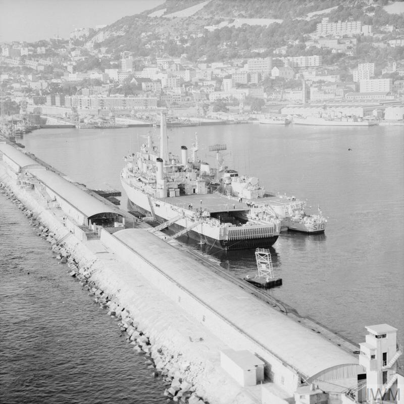 GIBRALTAR SUMMIT. OCTOBER 1968, GIBRALTAR, DURING THE SUMMIT MEETING BETWEEN THE PRIME MINISTER, MR HAROLD WILSON, AND THE REBEL PRIME MINISTER OF RHODESIA, MR IAN SMITH. THE SUMMIT TOOK PLACE ON BOARD THE SHIPS HMS KENT, AND HMS FEARLESS.