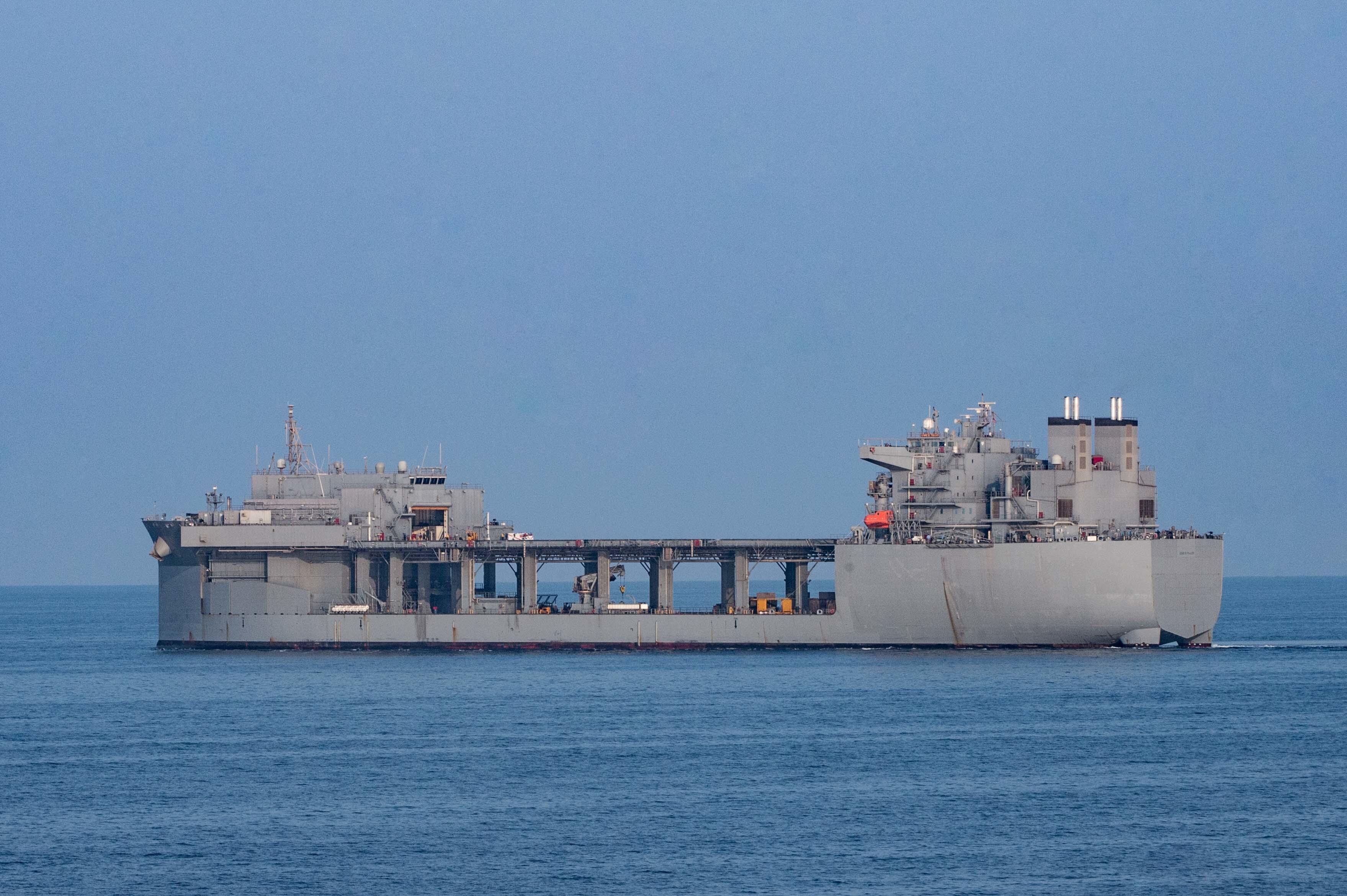 U.S. Navy ships transit Strait of Hormuz