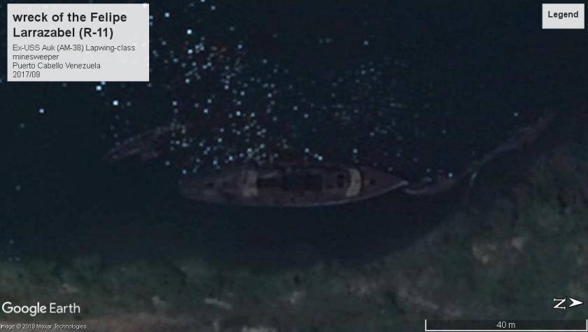 USS Auk wreck 2018 Venezuela