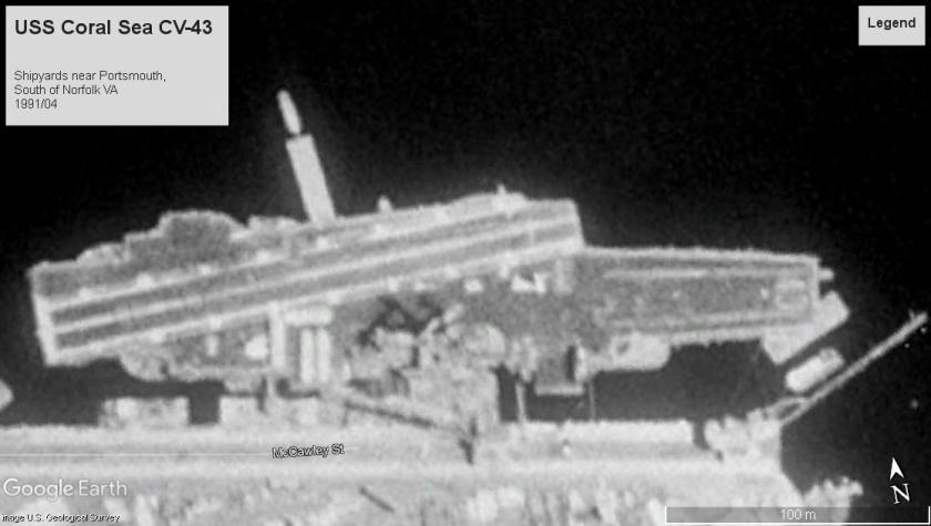 USS Coral Sea Norfolk VA 1991