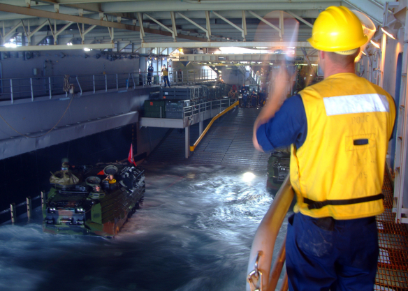 USS harpers ferry well deck NARA