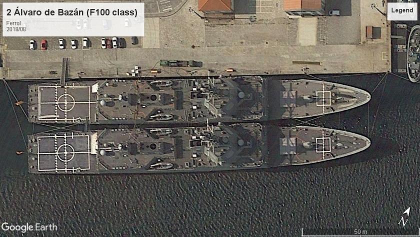 Álvaro de Bazánclass destroyers Ferrol 2018
