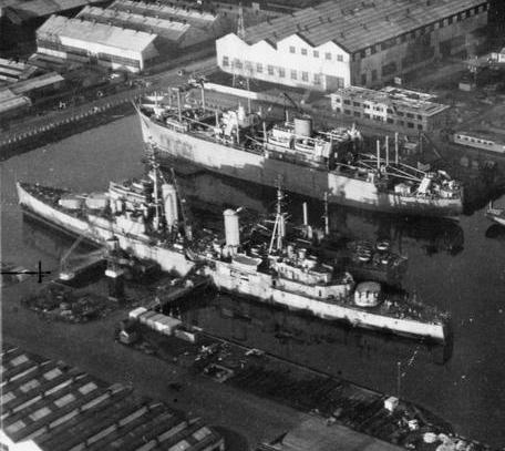 HMS Ontario Belfast 1944