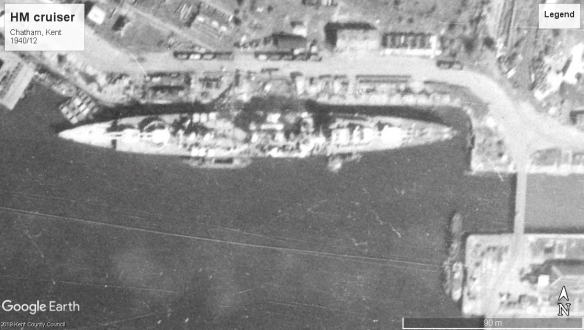 HMS ship C Chatham 1940