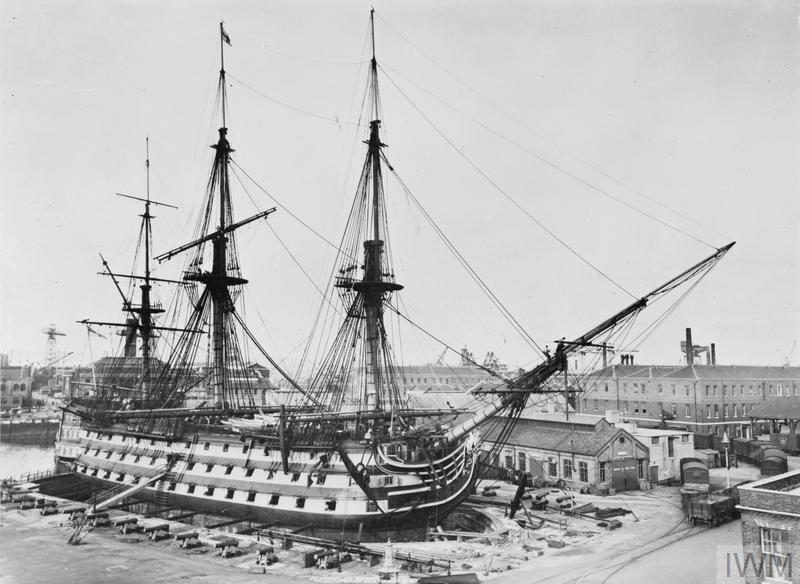 HMS Victory portsmouth 1945