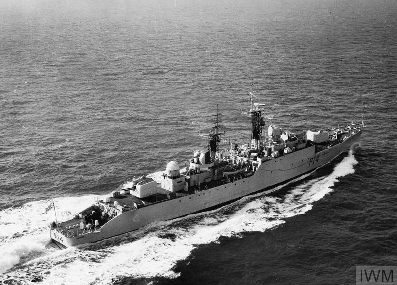 HMS LEOPARD, BRITISH FRIGATE, AT SEA.