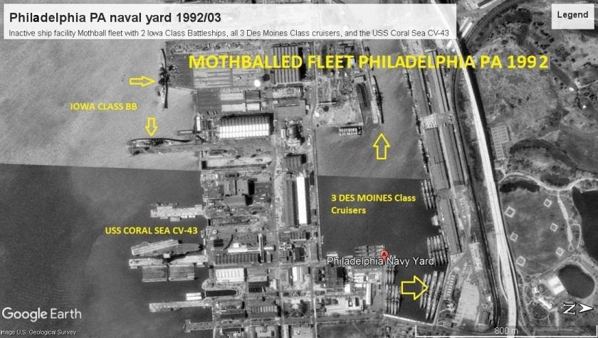 Philedelphia naval yard 1992 large ships