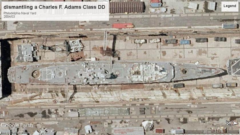 Scrap Charles F Adams Class DDG Philedelphia PA 2004