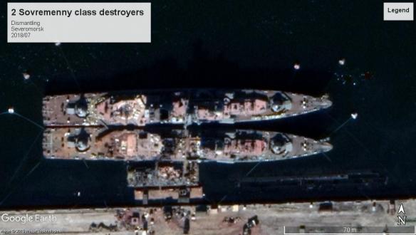 sovremenny class destroyers Severomorsk 2018